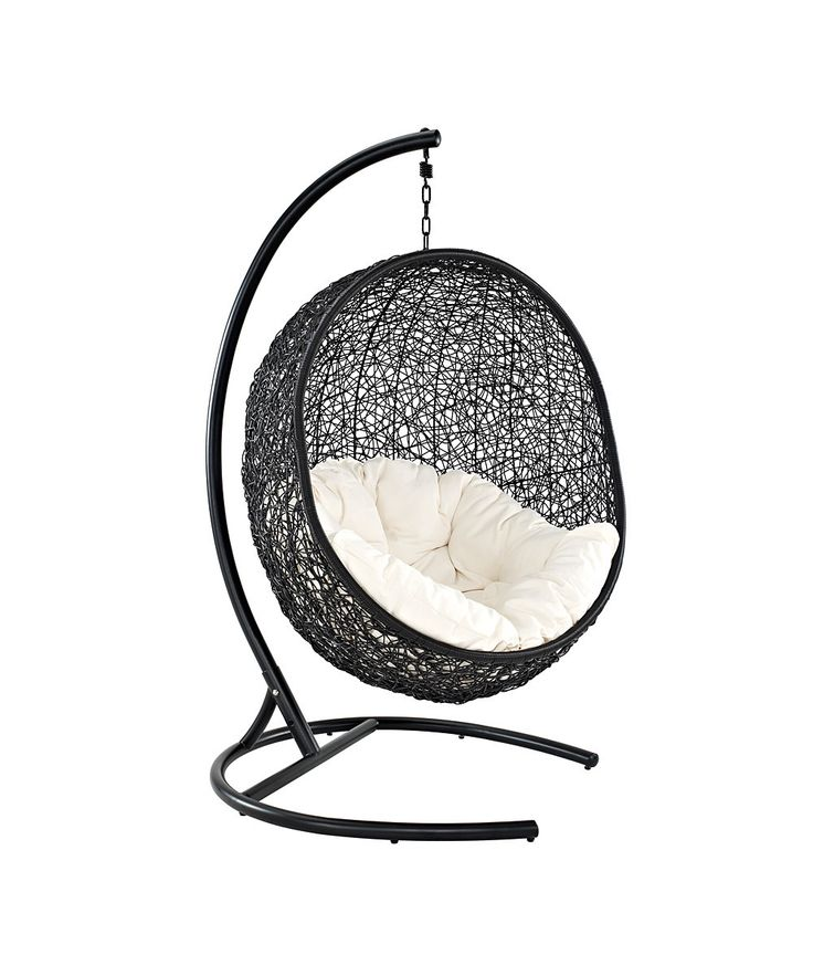 Cool teen room chair! Espresso & White Encase Swing Chair