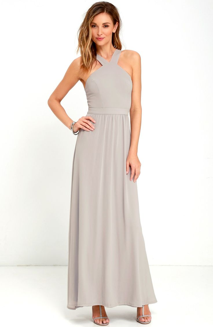 146 best gray bridesmaid dresses images on pinterest gray cross neck a line chiffon gown ombrellifo Gallery