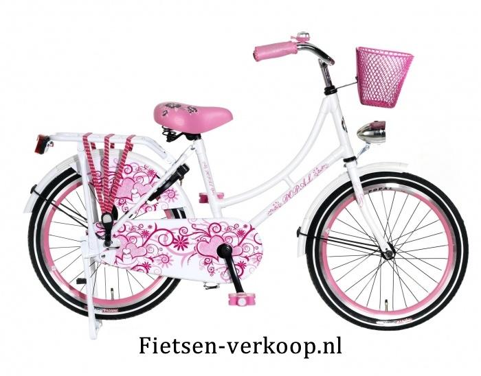 Omafiets Wit 20 Inch | bestel gemakkelijk online op Fietsen-verkoop.nl