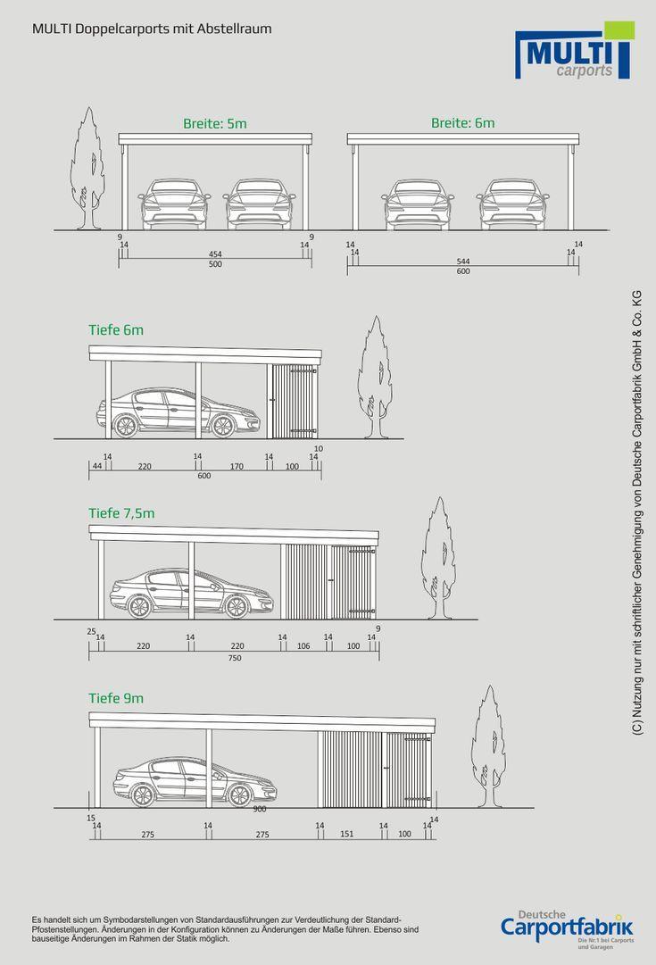 Technische Ansichten Multi Flachdach Doppelcarport Mit Schuppen Haus Und Hof Ansichten Haus Hof Mit Multiflac Carport Garage Carport Garage Exterior