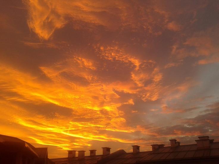 Sunset, Zagreb