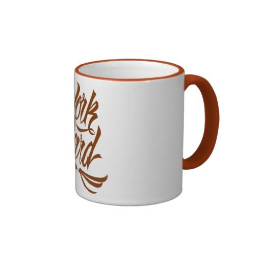 Work Hard Coffee Mug available at www.zazzle.com/letterhype #lettering #letterhype #WorkHard #calligraphy