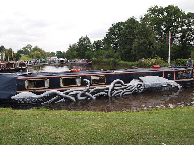 Canal Boat- Street Art