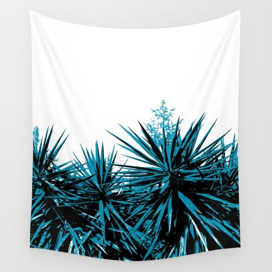 15% Off + Free Shipping on Tapestries! Yucca Trees Wall Tapestry by ARTbyJWP designs from Society6 #yucca #tapestries #walltapestry #walldeco #bohodecor --  Available in three distinct sizes, our Wall Tapestries are made of 100% lightweight polyester with hand-sewn finished edges. Featuring vivid colors and crisp lines, these highly unique and versatile tapestries are durable enough for both indoor and outdoor use. Machine washable for outdoor enthusiasts, with cold water on gentle cycle…