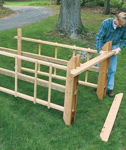 Build a Sturdy Arbor...need this for the wisteria I want!!