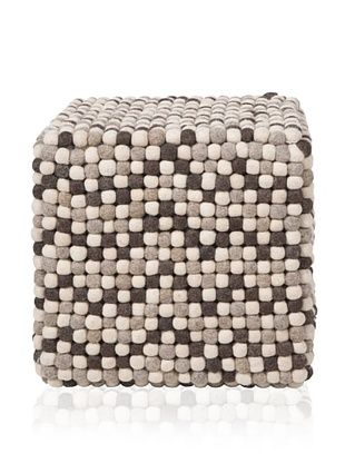 47% OFF Surya Dot Pouf, Brown