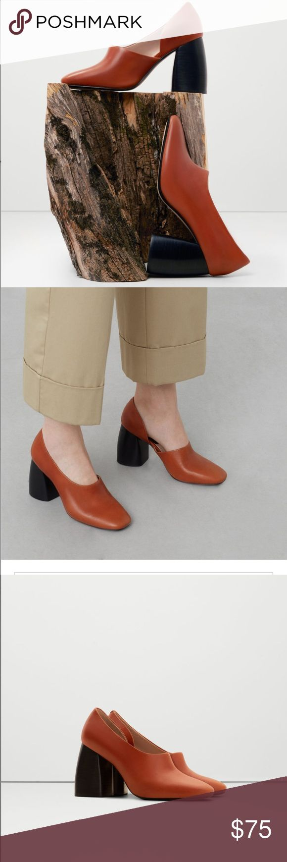 ISO Mango heel leather shoes in 6/6.5 IN SEARCH OF these cute hooties from mango known as heel leather shoes. Ideally I'd like to pay 75$, but let me know how much you like to sell.  I appreciate similar looks as well, but love love love this leather color! Mango Shoes Heeled Boots