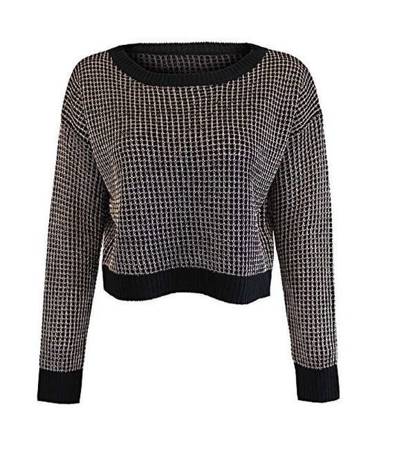 Have your own WOMENS CHAINMAIL KNIT BLACK SWEATER TOP!! Pm Us for more info and ORDERS call +44 7530 639069 or email just4youonline.com