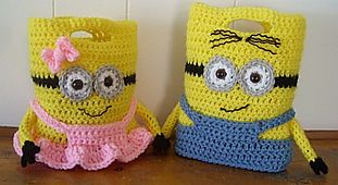 Minion purses/bags FREE pattern, these are awesome !!