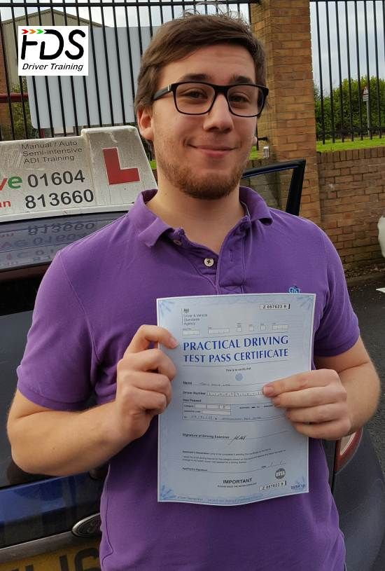 Congratulations to Tanis Line who passed his practical Driving Test on the 4th January 2017 and with only 3 minors. Very well done and best wishes from your Driving Instructor Nigel and all of us here at Flexdrive Driving School.  Tanis had driving lessons in Northampton and Bozeat with Flexdrive Driving School. #drivinglessons #learntodrive #northampton