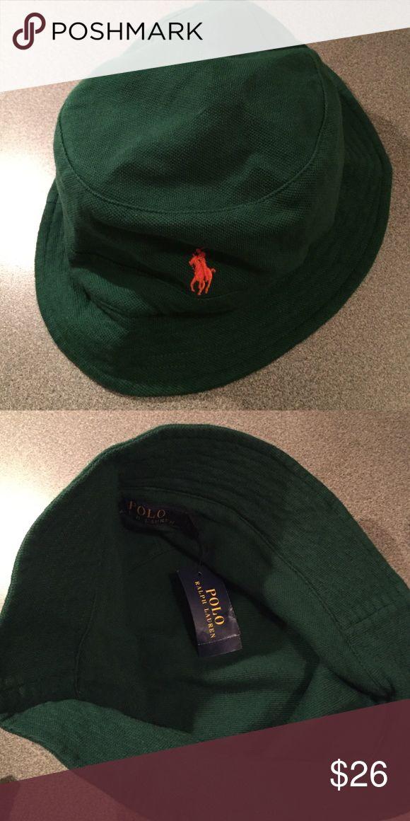 Polo Ralph Lauren Classics bucket hat Classic Polo Ralph Lauren Bucket Hat in new Forrest green with burnt orange logo. New condition!! Polo by Ralph Lauren Accessories Hats