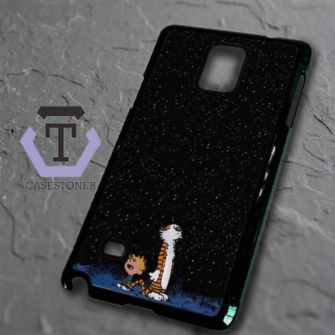 Calvin And Hobes Night Sky Samsung Galaxy Note Edge Black Case