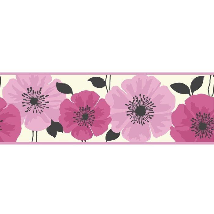 Pink Wallpaper Border Pink Wallpaper Border Floral Wallpaper Border Love Pink Wallpaper