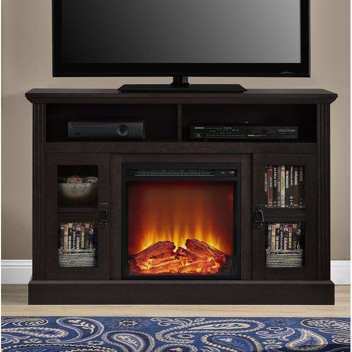 Tucci Tv Stand For Tvs Up To 50 With Electric Fireplace Included