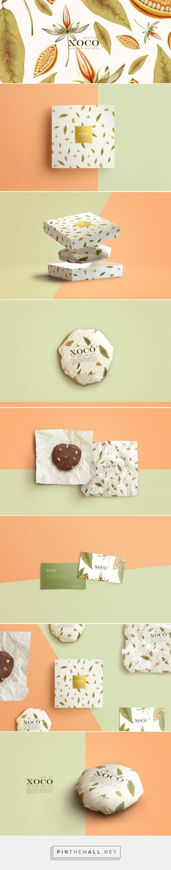 XOCO - mexican craft chocolate on Behance - created via https://pinthemall.net