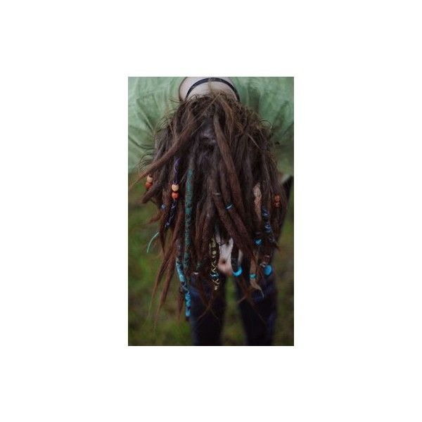 10 Brown Flower Maiden Tie-Dye Wool Synthetic Dreadlock *Clip-in... ❤ liked on Polyvore featuring accessories, hair accessories, flower hair accessories, bohemian hair accessories, boho hair accessories and beaded hair accessories