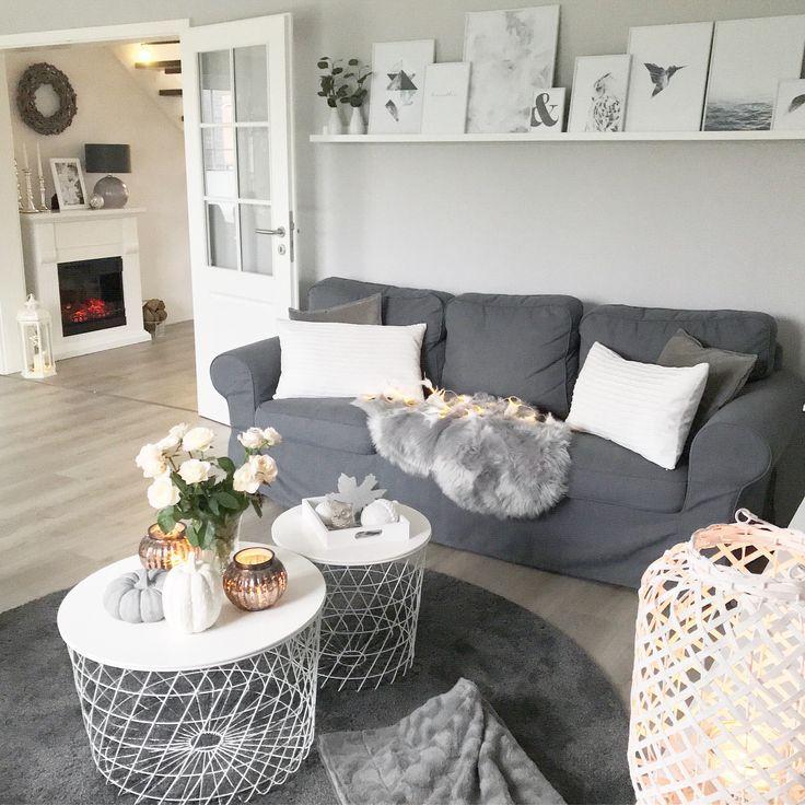 Instagram Wohn Emotion Landhaus Wohnzimmer Modern Grau Weiss
