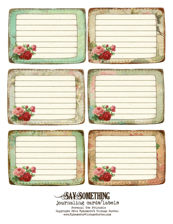 Ephemera's Vintage Garden: Free Printable - Stitched Journaling Cards/Labels
