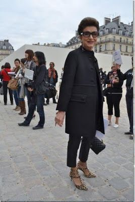 Constanza Pascolato If I got into all black, with crazy shoes, this would be the look