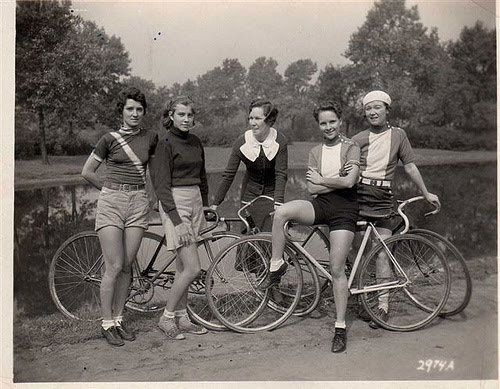 We all know I love vintage photos of girls on bikes...