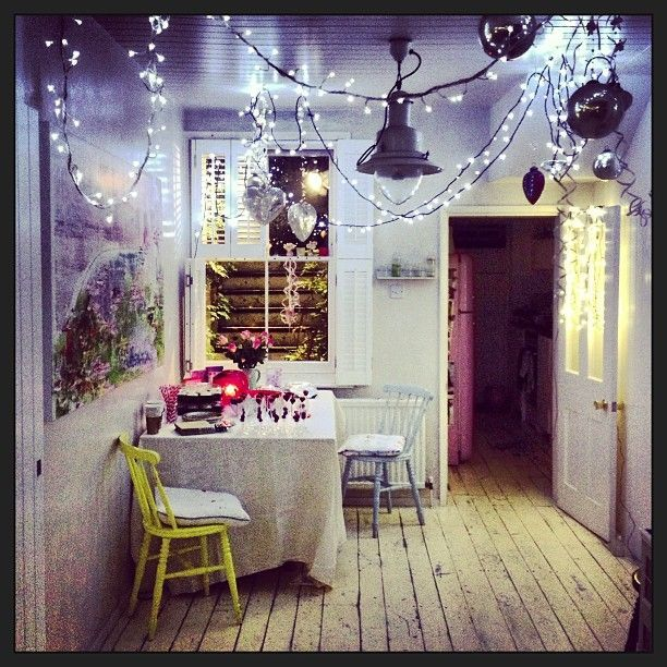 111 best indoor decor with fairy lights images on - Indoor string lights ideas ...