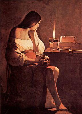 Mary Magdalene [2] by La Tour. Order from DEKORAMI as a poster, canvas print, mural. Zamów jako obraz na płótnie, plakat lub fototapetę na DEKORAMI.pl