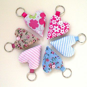 Lavender heart keyrings