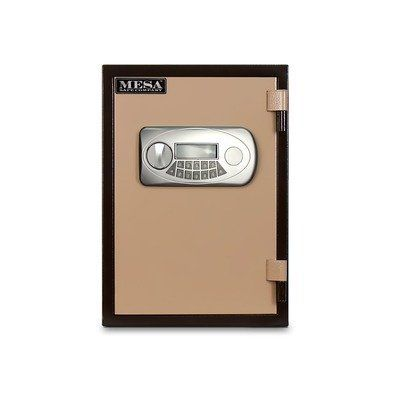 All Steel Electronic Lock Security Safe Size: 0.6 CuFt by Mesa Safe Co.. $288.99. MF50E Size: 0.6 CuFt Features: -UL Classified class 350 - 1 hour fire rating, tested in temperatures up to 1825.-Large easy to read illuminated display.-Steel door enclosed with fire resistant material..-The four inner walls are carpeted for safe storage in a durable grey fabric. High strength adjustable/removable shelves.-Impact rating, immediately after the heating test the safe was dropped from ...