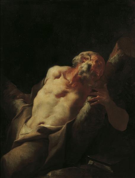 via Victorian Vampire Society UK A favourite ~ Paul Troger~ The Apostle Andrew~ 1738
