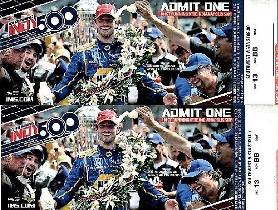 Two (2) 2017 Indianapolis 500 TicketsSouthwest Vista ~ Turn 1 Up for bid are 2 side-by-side tickets to the 101st running of the INDIANAPOLIS 500. Seat... #indy #high #turn #vista #tickets #indianapolis
