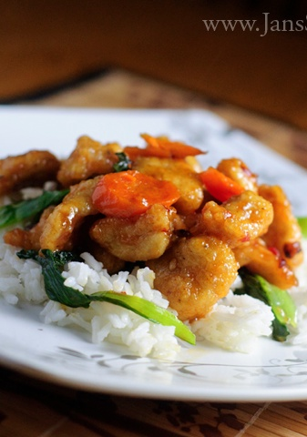 Healthy General Tsos Chicken! Make this at home instead of getting fattening carry-out!