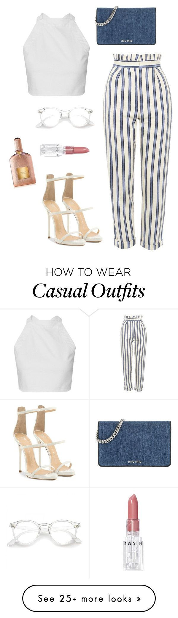 """casual day"" by alxxandria on Polyvore featuring Topshop, Miu Miu, Giuseppe Zanotti, Tom Ford and Rodin"