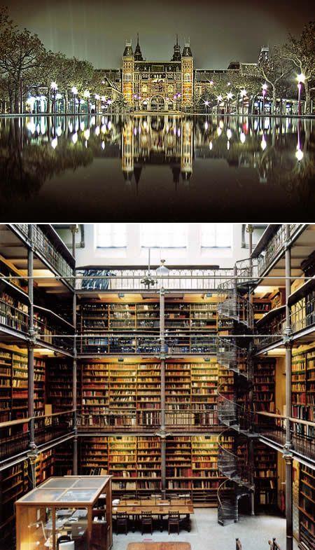 Голландия, Амстердам - Rijkmuseum Library