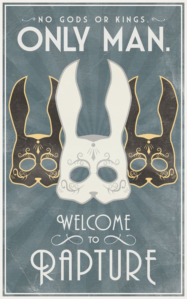 Bioshock Masquerade Poster - Created by Bianca Baumann (Bottle Drawing Tattoo)