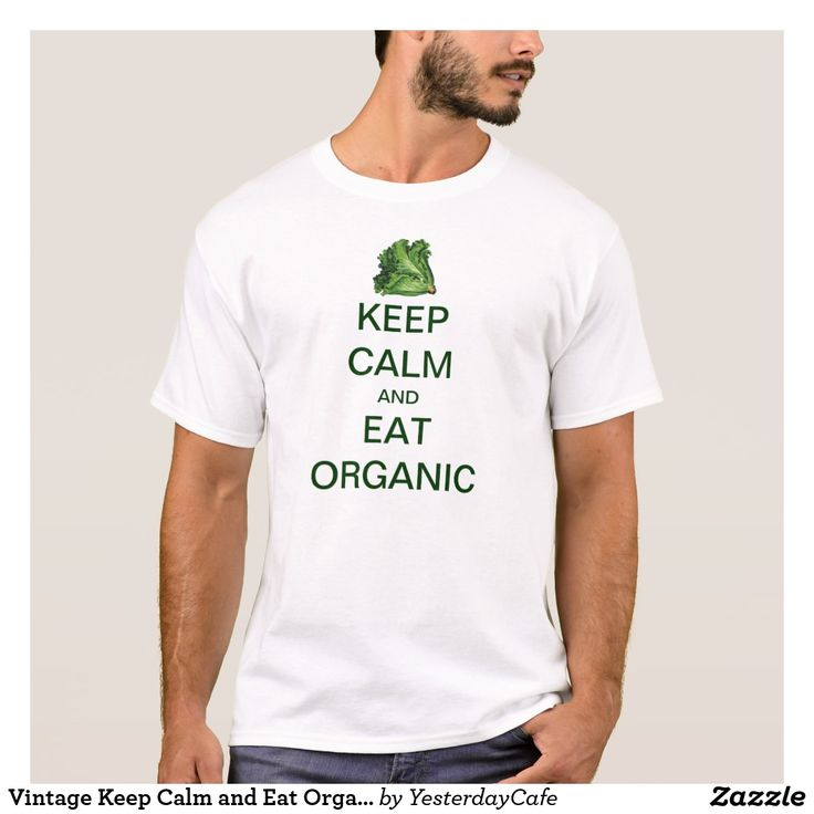 Vintage Keep Calm and Eat Organic Lettuce T-Shirt