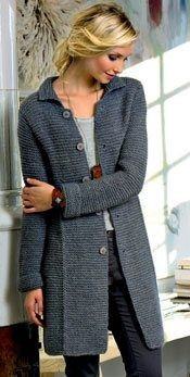 Knitting Patterns For Long Sweater Coats : Best 25+ Knitted coat pattern ideas on Pinterest Knitted coat, Knit jacket ...