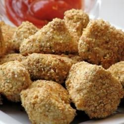 Herbed Chicken Nuggets. These were very good. I just can't buy frozen nuggets anymore after making my own ;)