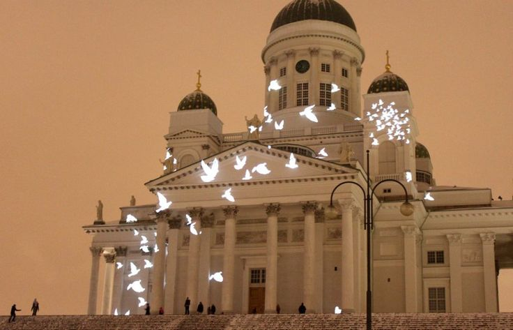 Lux Helsinki light festival every year at the beginning of January!  Images of Joy 2016, photo: Skafur-Tour