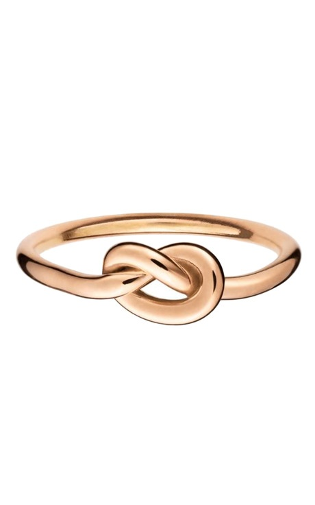 love knot ring in rose gold