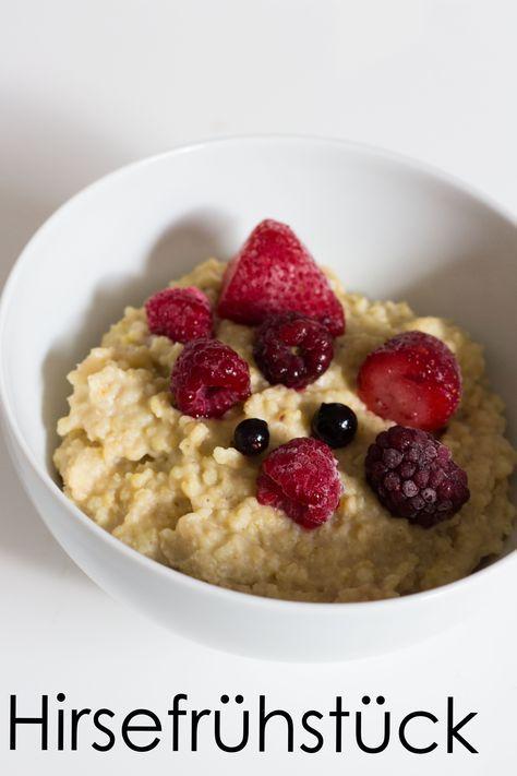 Leckerer Hirsebrei - ohne weißen Zucker, laktosefrei, glutenfrei, vegan