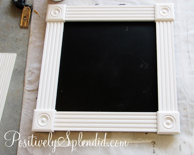 DIY Framed Chalkboard Tutorial | Positively Splendid {Crafts, Sewing, Recipes and Home Decor}