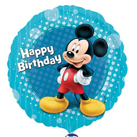 """Mickey Mouse & Friends """"Happy Birthday"""" Foil Balloons, 18"""""""