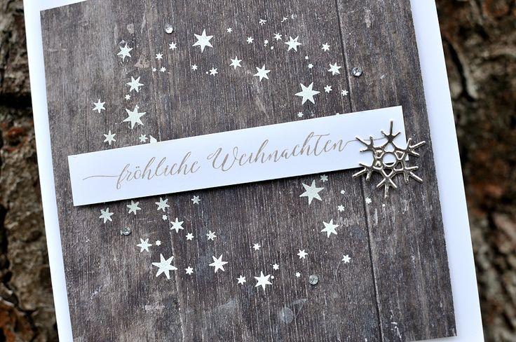 Weihnachtskarte in Holzoptik