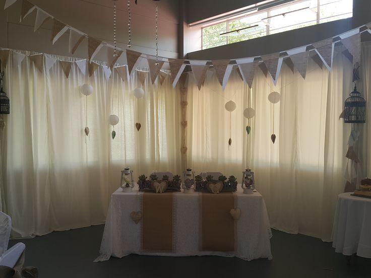 cowboy theme bridal table at Oak House venue in cullinan