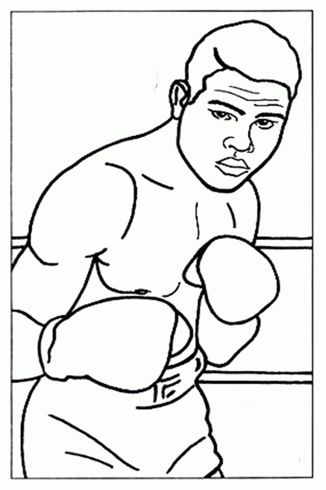 Boxing Coloring Pages Books 100 Free And Printable