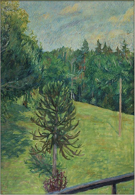 """Józef Czapski """"Park w Chateaux la Roussille"""", 1958"""