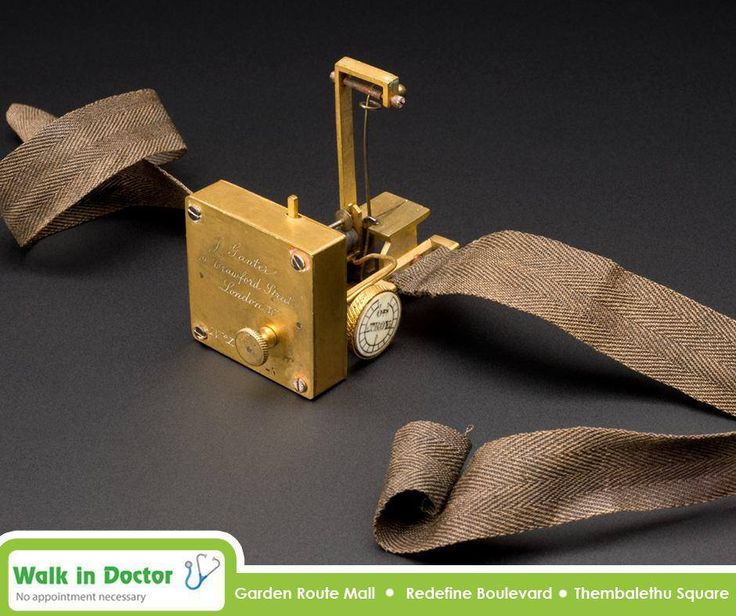 The first efficient sphygmograph (used to take blood pressure) was designed by Étienne-Jules Marey (1830-1904) in 1863. This example belonged to Dr Robert Ellis Dudgeon (1820-1904). #TBT #WalkInDoctor