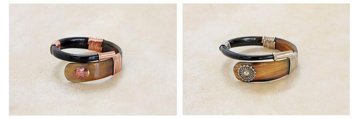 Horn & Copper + Horn & Alpaca bracelets