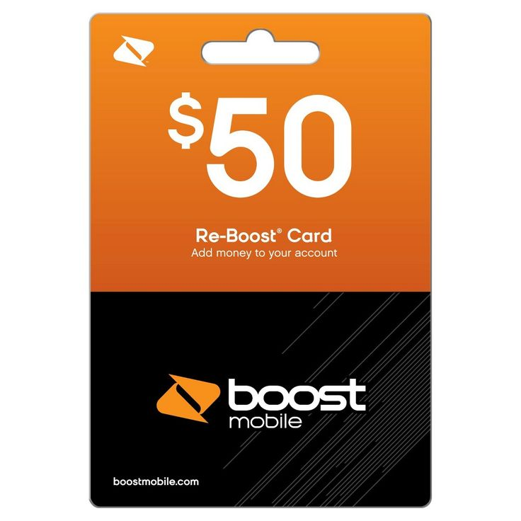 Boost Mobile $50 Prepaid Card (email delivery)