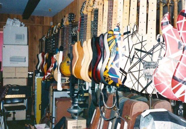 Ed's guitar room at 5150.                                                                                                                                                                                 More